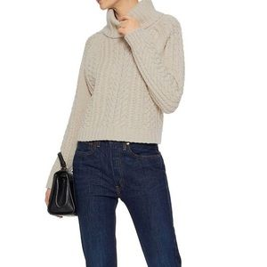 Alice + Olivia Tobin Knit Cropped Sweater